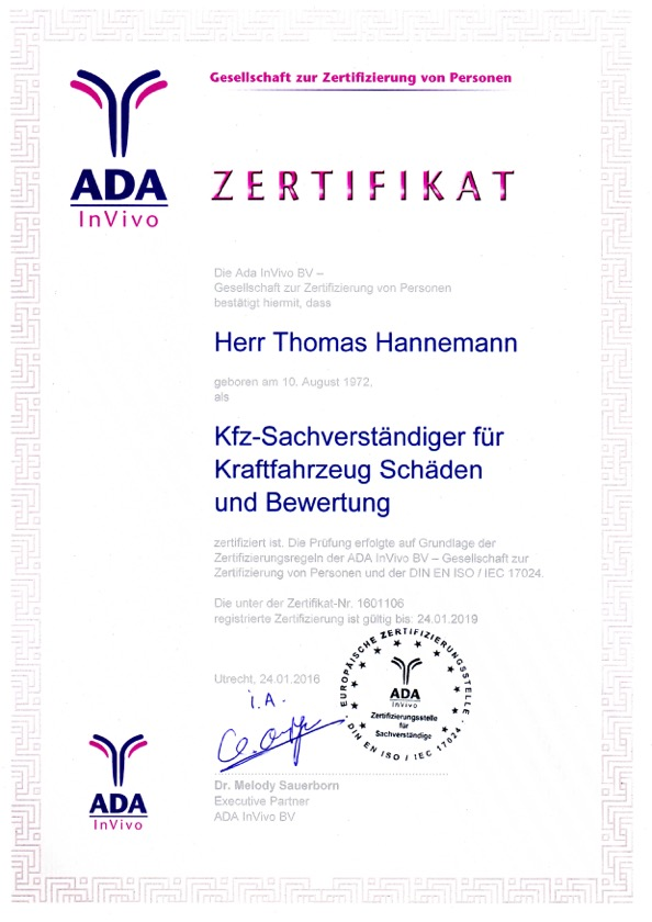 KFZ-Sachverstaendigenbuero-Thomas-Hannemann-Gutachter-Hamburg-ADA-Zertifikat