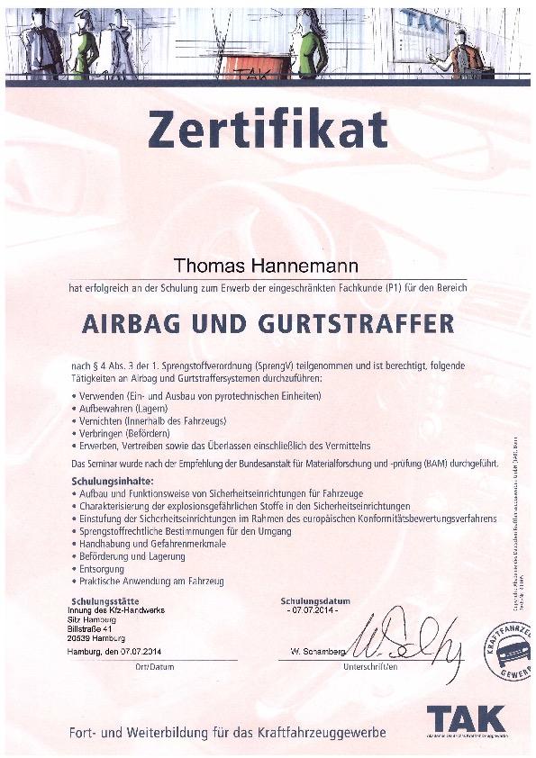 KFZ-Sachverstaendigenbuero-Thomas-Hannemann-Gutachter-Hamburg-Airbag-und-Gurtstraffer